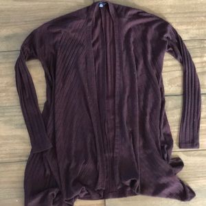 American Eagle Outfitters Maroon & Black Cardigan